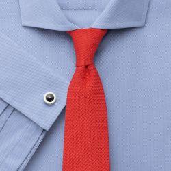 Мужская рубашка под запонки синяя Charles Tyrwhitt не мнущаяся Non Iron сильно приталенная Extra Slim Fit (RG097BLU)